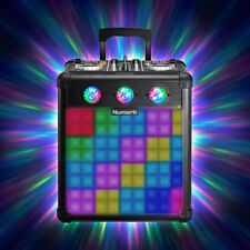 Numark Party Mix Pro DJ Controller with Light Battery Portable DJ Speaker