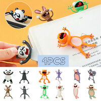 Ruler Scale Wooden Bookmarks with Cartoon Patterns 40pcs Animal Bookmarks Lovely Little Birthday Gifts Christmas Gifts Party Bag fillers Party Favours for Kids