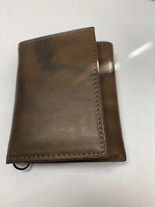 BRAND NEW ROLFS MEN brown Tri Fold wallet