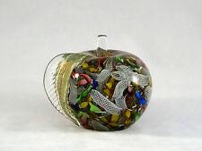 Murano Avem Tutti Fruitti Latticino Gold Aventurine Glass Apple Paperweight Mint