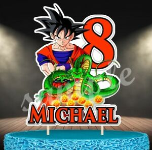 Décoration gâteau,cake topper dragon ball z  anniversaire prénom et age