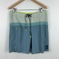 Depactus Mens Board Shorts Size 34 Swim Shorts Multicoloured Drawstring
