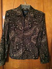 Giancarlo Ferrari Paisley Tapestry Zip Jacket Size 4