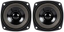"NEW (2) 3"" Woofer Speakers.Full Range Driver.4 ohm.Three inch.Pin Cushion PAIR"