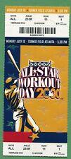 2000 MLB All Star Game Work Day Ticket Turner Field Jeter MVP Year Mint