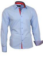 Herren Hemd Shirt Kentkragen Herrenhemd Langarm Binder de Luxe 82706 hell Blau