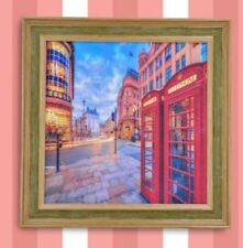 Wall Painting Picture Canvas Wooden Frame Art Modern Design -Telephone
