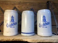 Erlanger Erichbrau German Mug Stein Gray Stoneware Vintage Antique Beer Brewery