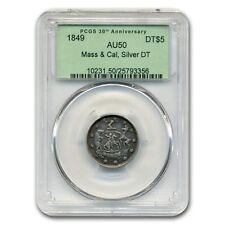 1849 Massachusetts & California Half Eagle AU-50 PCGS