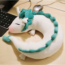 Kawaii White Dragon Haku Animal U-Shape Neck Doll Plush Pillow Toy
