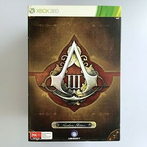 Assassins Creed 3 III Freedom Edition Xbox 360 Game Box Near New Statue Issue