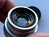 "Carl Zeiss Jena Tessar Red ""T"" lens 50 mm F 3,5 Mount M42"