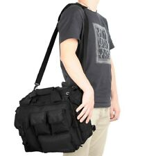 14'' Laptop Bag Tactical Briefcase Computer Shoulder Handbags Messenger Bag BK