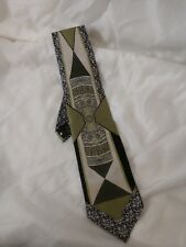 Don Jonathan Men's 100% Silk Tie Green And Black Hand Made