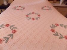Vintage Needle Tuft Cabin Craft Chenille Bedspread  Full/Queen 105 x93