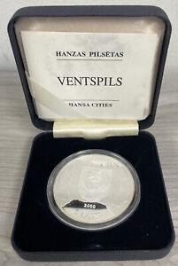2000 Hansa Cities Cesis Latvia Silver Proof Coin