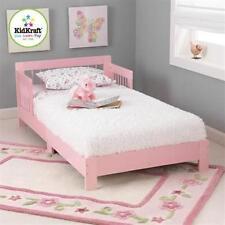 KidKraft 76244 Kids Bedroom Houston Wood Toddler Bed w/Side Rails Pink NEW