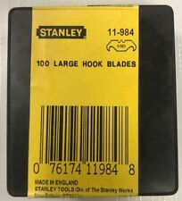 STANLEY 100 PIECE LARGE HOOK CUTTING UTILITY BLADES11-984