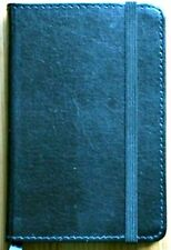 Journal European Bonded Leather C R Gibson Markings Navy Book RULED Pages