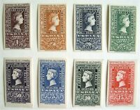 Spain Stamps Scott 776-79 & C127-130 Imperf - MINT NH: Edifil Cat. #1075 to 1082
