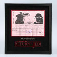 Star Wars - Ep VI - ROTJ Signed Production Storyboard- Aliens & Skiff (J51)