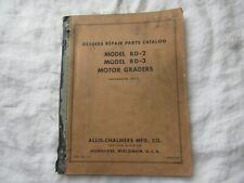 Allis-Chalmers BD3 BD2 motor grader parts catalog manual