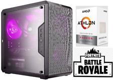 "Gaming PC AMD Athlon 200GE VEGA 3 Ram 8GB FORTINITE 22"" WINDOWS 10"