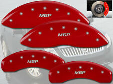 2003-2011 Mercury Grand Marquis Front + Rear Red MGP Brake Disc Caliper Covers