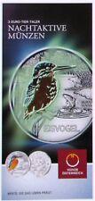 Flyer Folder 3 EURO Tier Taler Eisvogel Österreich 2017- keine Münze
