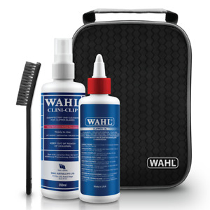 WAHL SANITATION CLEAN KIT - DISINFECTANT - CLIPPER OIL - CLEANING BRUSH