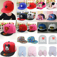 Children Kids Baby Cartoon Peaked Baseball Cap Snapback Hip-hop Beanie Sun Hat