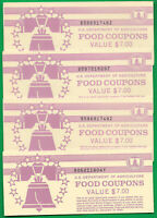 FOOD STAMP COUPON  USDA UNC $7.00 FULL BOOK WELFARE. agriculture ONE BOOK