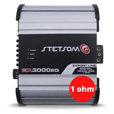 Stetsom Ex 3000 1 Ohm Mono High Power Car Audio Amplifier Full Range Amplifier