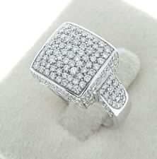 Solid 18K White Gold 2 Ct VS FG Color Genuine Diamond Cocktail Wedding Band Ring