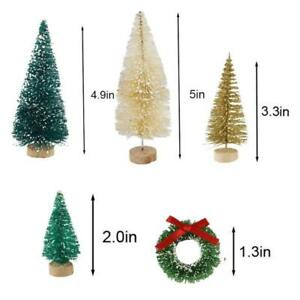 30 Pieces Christmas Trees Bottle Brush Trees Ornaments Miniature Sisal Frosted