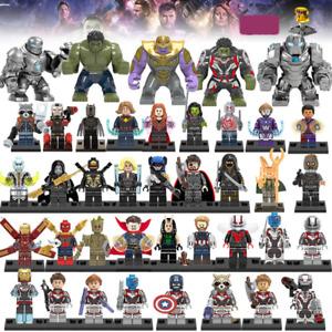 Marvel DC Comics X-Men Avengers Superhero Hulk Iron Man Thor Building Blocks Toy