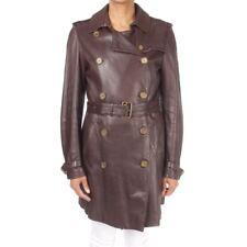 BURBERRY Londres Manteau en cuir gr. S marron des Dames VESTE
