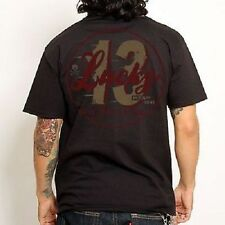 Lucky 13 Last Lap Vintage Look Hot Rod Motorcycle Racing Biker Tattoo T Shirt S