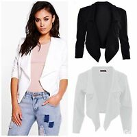 Womens/Ladies/Girls Waterfall style, cropped blazer/jacket plus sizes avail 8-26