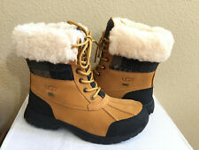 UGG MEN BUTTE PATCHWORK WHEAT WATERPROOF SHEARLING Boot US 9 / EU 42 / UK 8