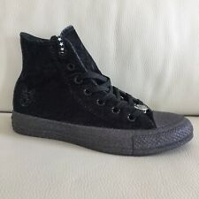 dc093df1336c Converse x Miley Cyrus Chuck Taylor All Star High Top Black Velvet Sneakers  5