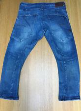 G-Star Raw Mens 36W 26L Heavy Stretch Faded Denim Type-C Tappered Jeans VGC