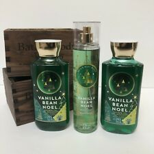 Bath And Body Works VANILLA BEAN NOEL 1x Fine Fragrance Mist 8 Oz, 2x Shower Gel