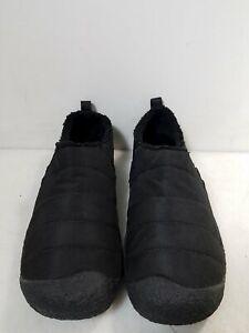 Keen Howser II Black Quilted Nylon & Microfleece Slip-Ons Women's 11 - GO
