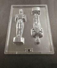 Oscars Emmy Award Statue Two Cavity Chocolate Cookie Mold Candy Free Ship