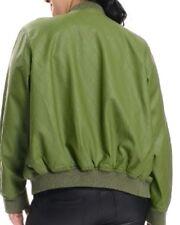 Women Plus Size Olive Green  Bomber Jacket 1X