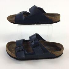 Birkenstock Womens Flip-Flops Blue Double Buckle Slip Ons 10.5