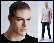 Male mannequin dummy man, realistic looking muscular,hand made manikin -Bob