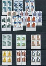 Berlin Sehenswürdigkeiten im Unterrand-Viererblock Mi.164,20 € postfrisch/MNH