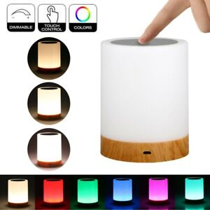 LED RGB Portable USB Rechargeable Desk Table Night Light Touch Lamp Wireless UK